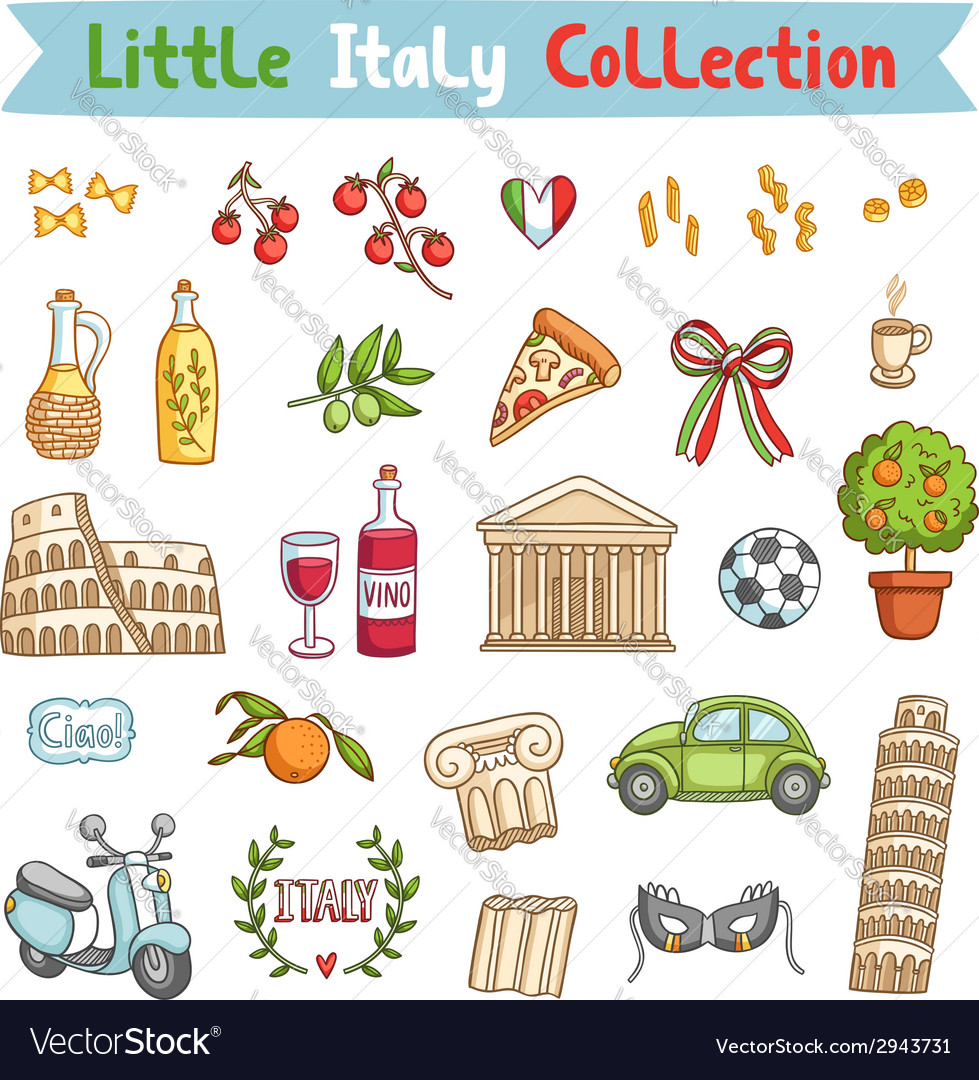 Little italy collection vector | Price: 1 Credit (USD $1)