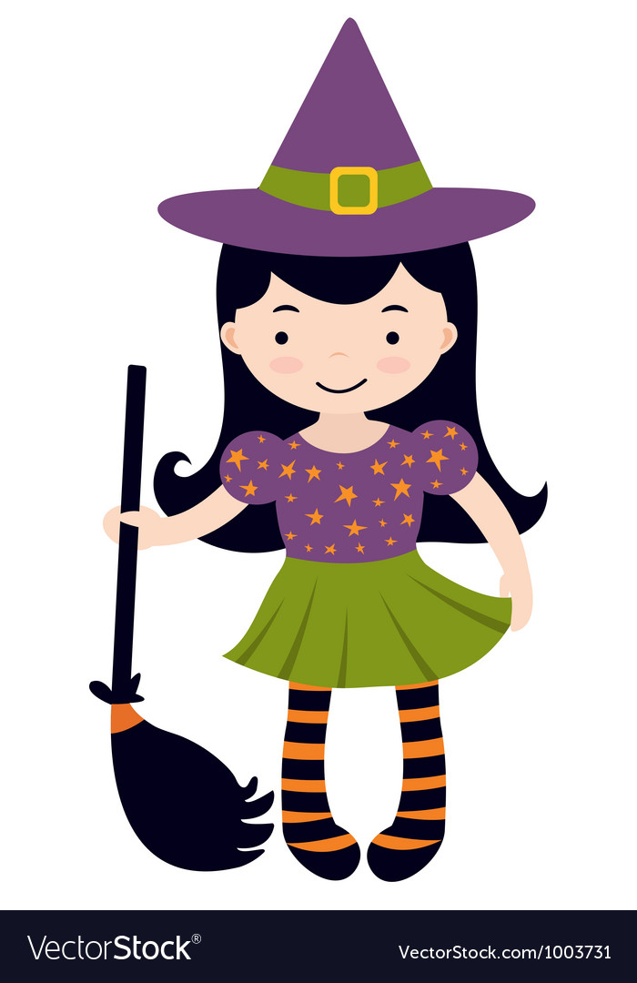 Little witch vector | Price: 1 Credit (USD $1)