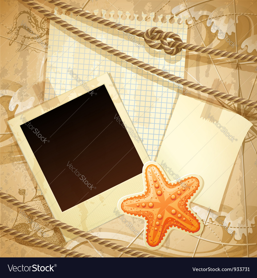 Nautical scrapbook template vector | Price: 3 Credit (USD $3)
