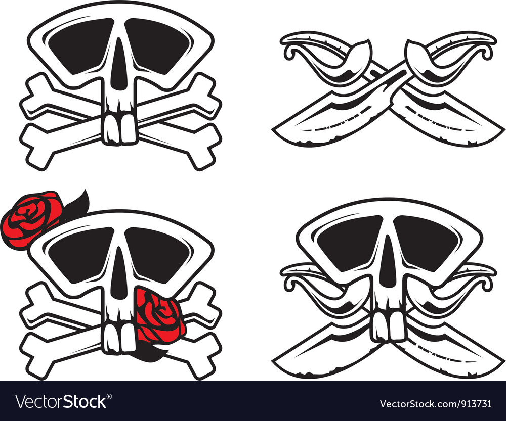 Pirate symbol with skull vector | Price: 1 Credit (USD $1)
