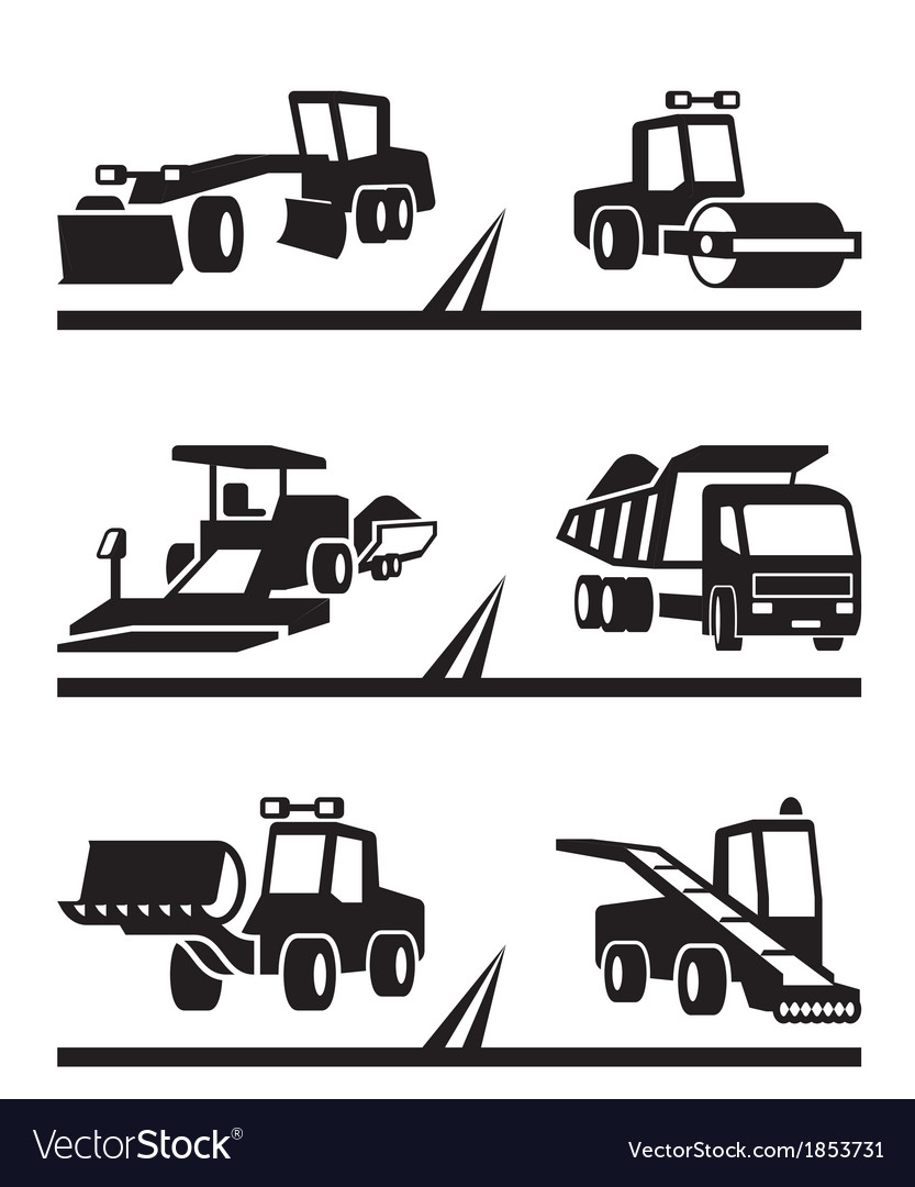 Road construction machinery vector | Price: 1 Credit (USD $1)