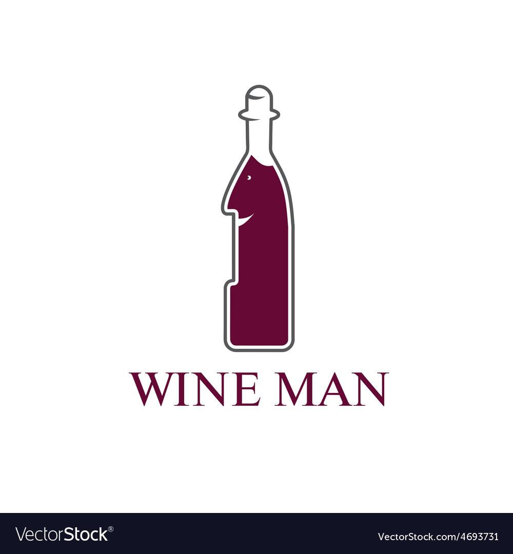 Wine man concept design template vector | Price: 1 Credit (USD $1)