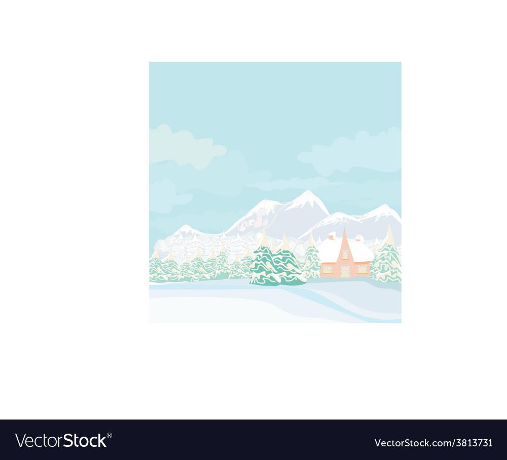 Winter landscape - vector | Price: 1 Credit (USD $1)