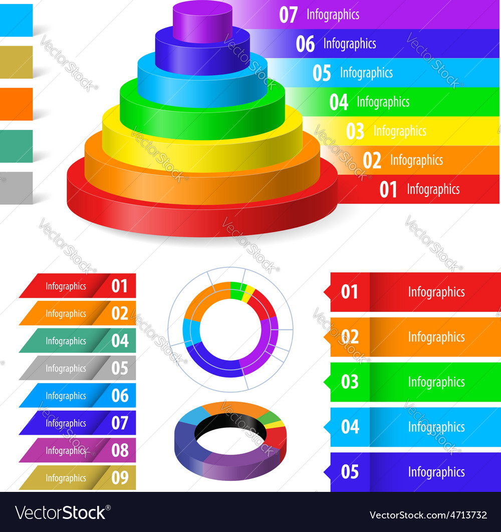 Color infographic vector | Price: 1 Credit (USD $1)