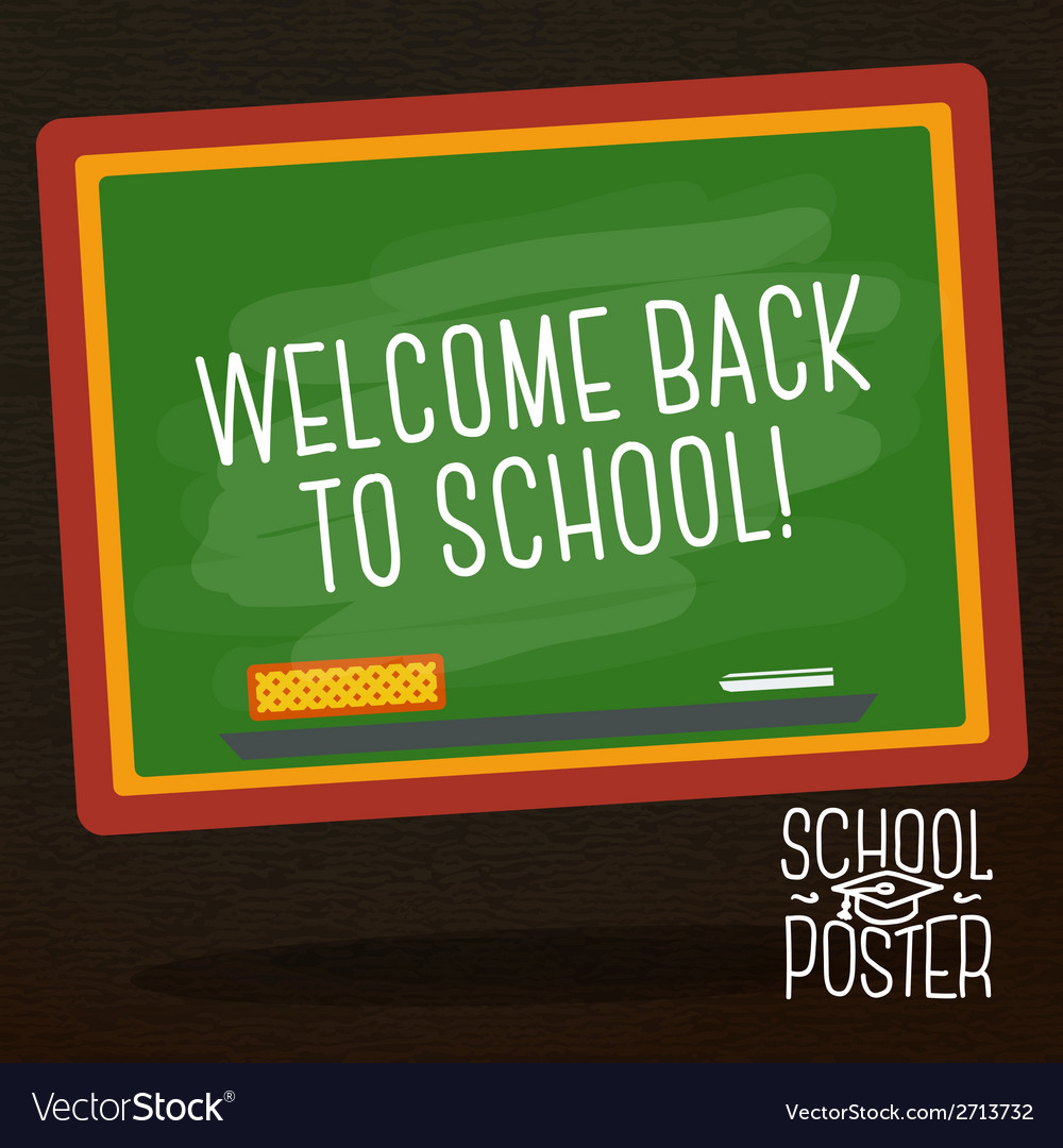 Cute school college university poster - school vector | Price: 1 Credit (USD $1)