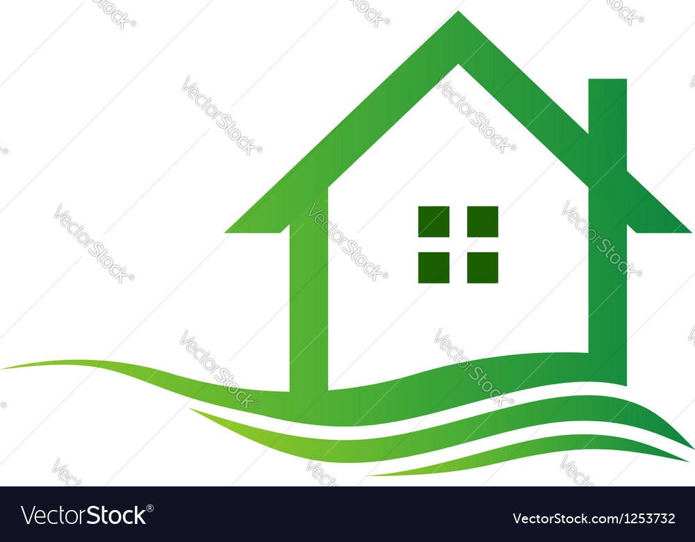Eco house logo vector | Price: 1 Credit (USD $1)