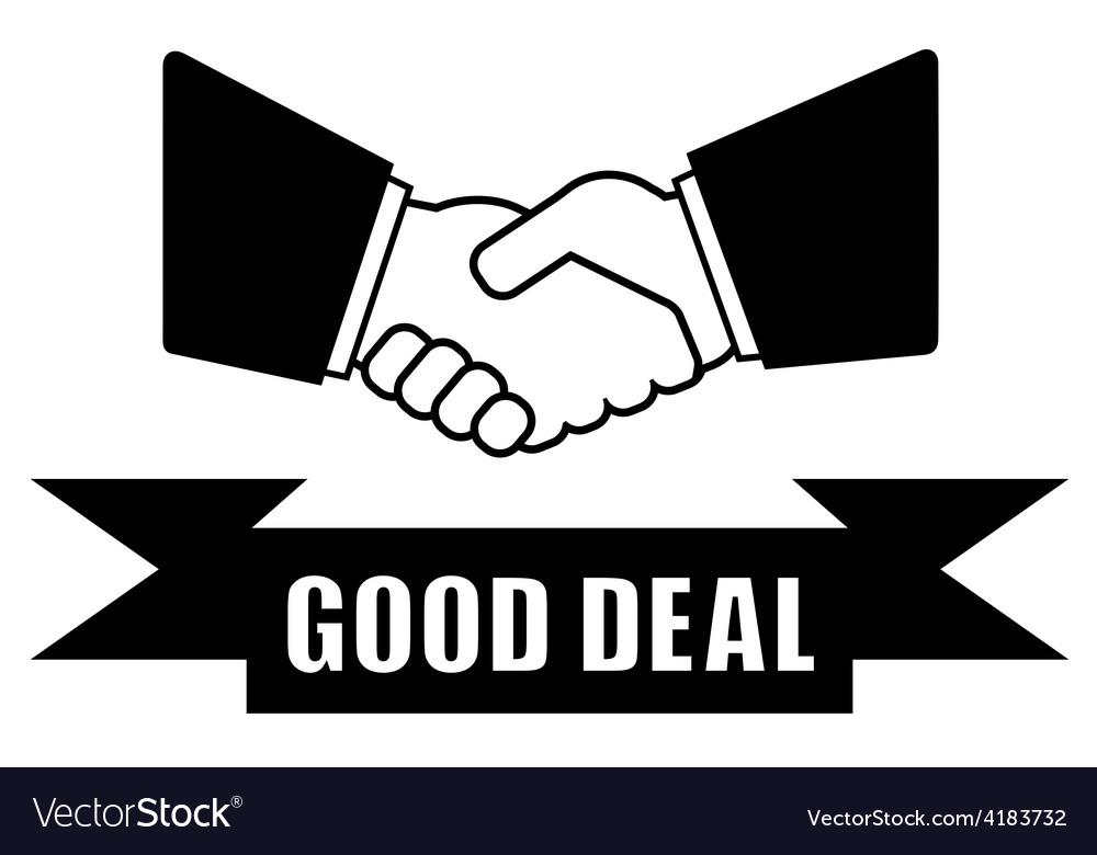 Good deal handshake icon vector | Price: 1 Credit (USD $1)