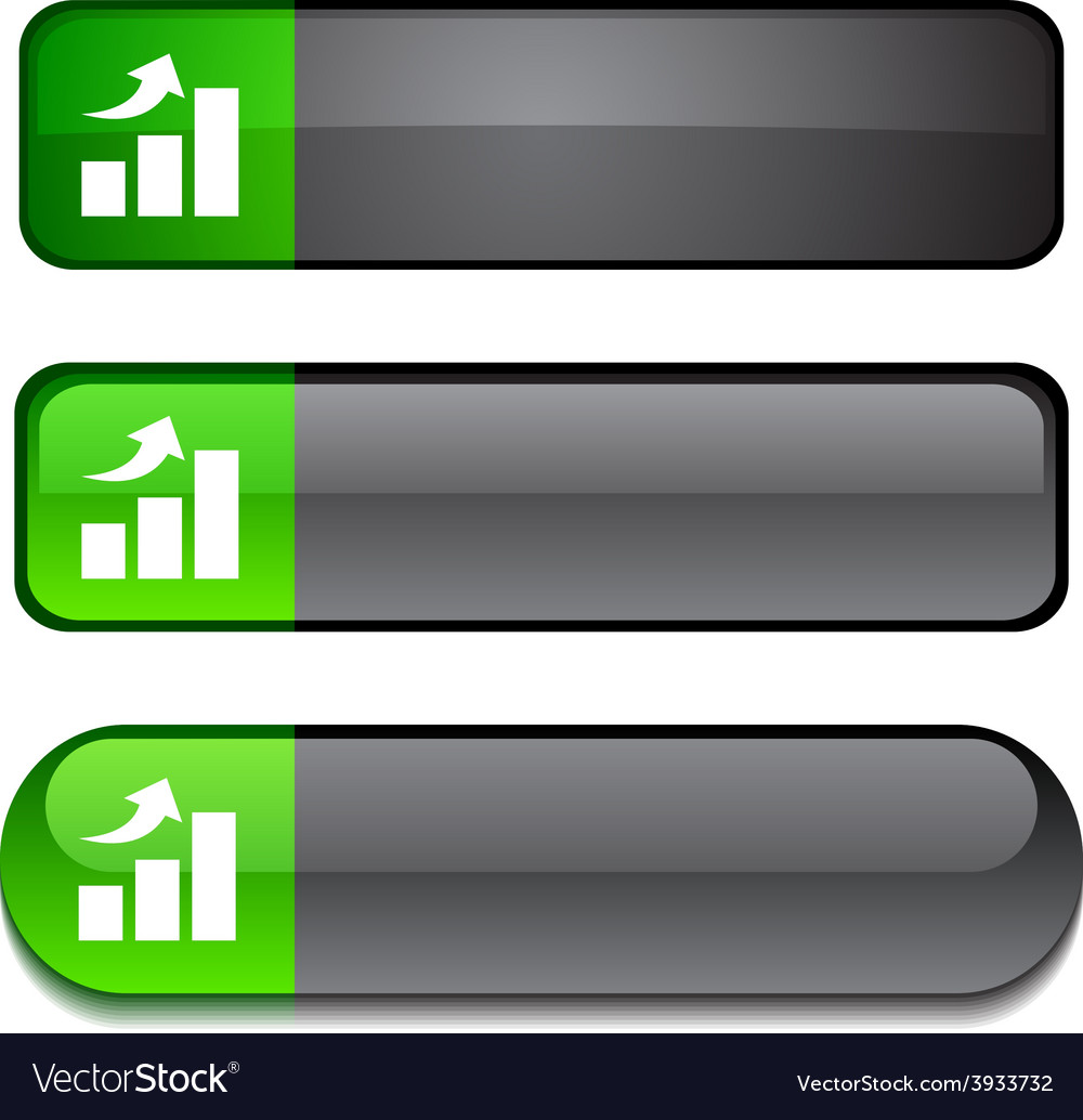 Growth button set vector | Price: 1 Credit (USD $1)