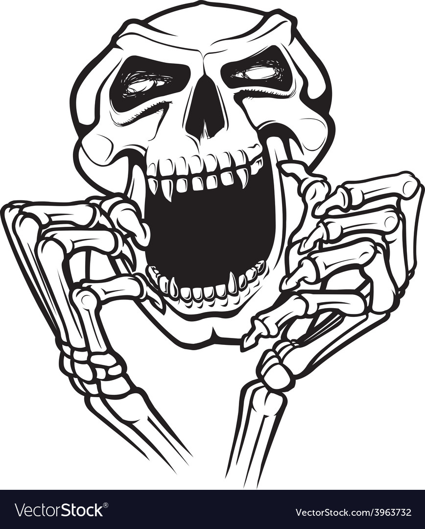 Laughing skull vector | Price: 3 Credit (USD $3)