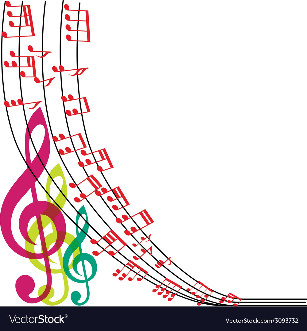 Music notes composition musical theme background vector | Price: 1 Credit (USD $1)