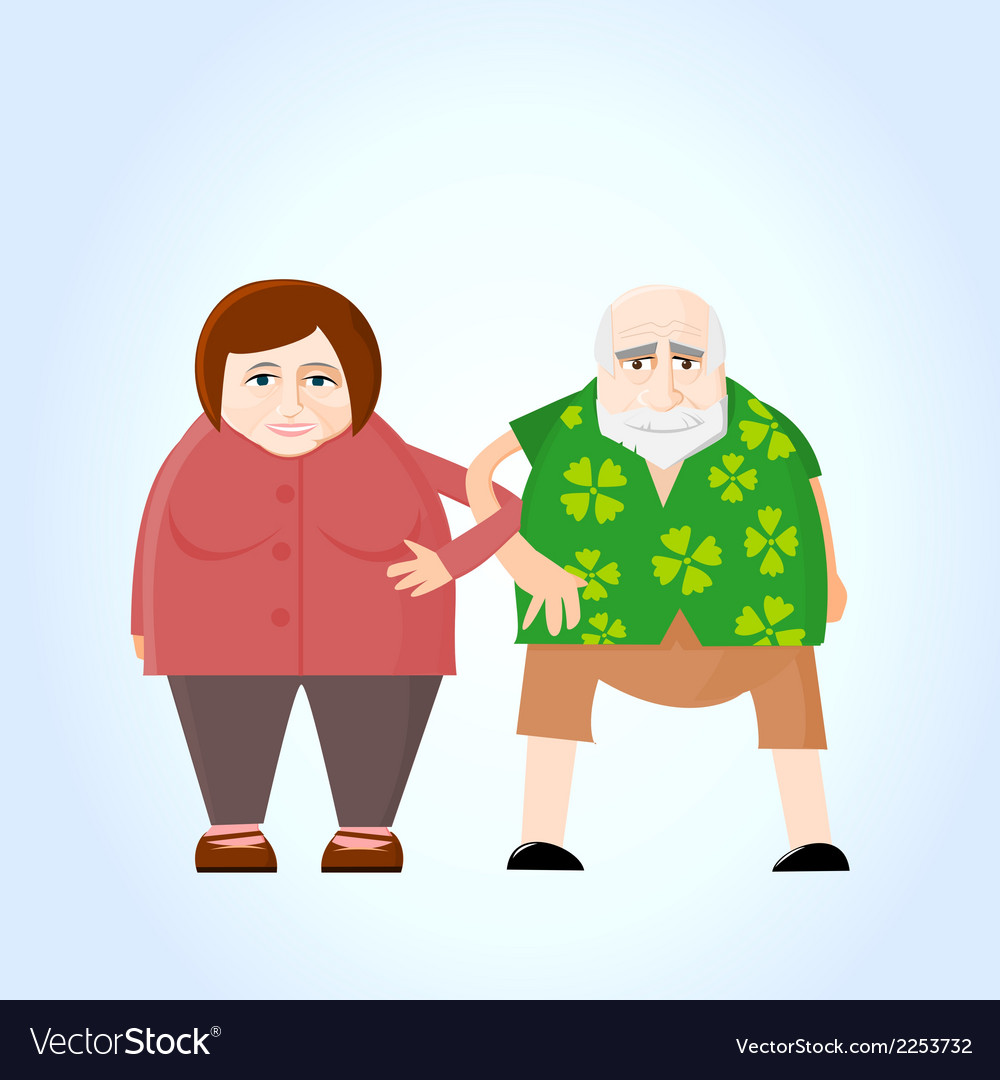 Old couple holding hands vector | Price: 1 Credit (USD $1)