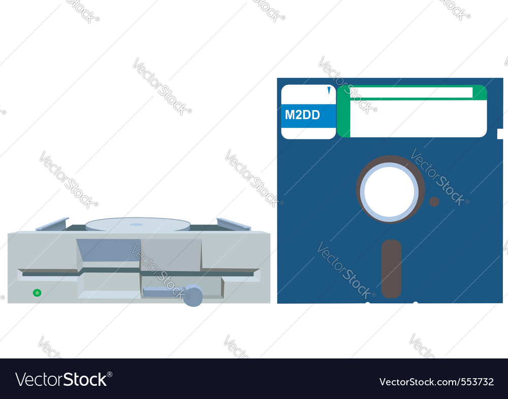 Old floppy vector | Price: 1 Credit (USD $1)