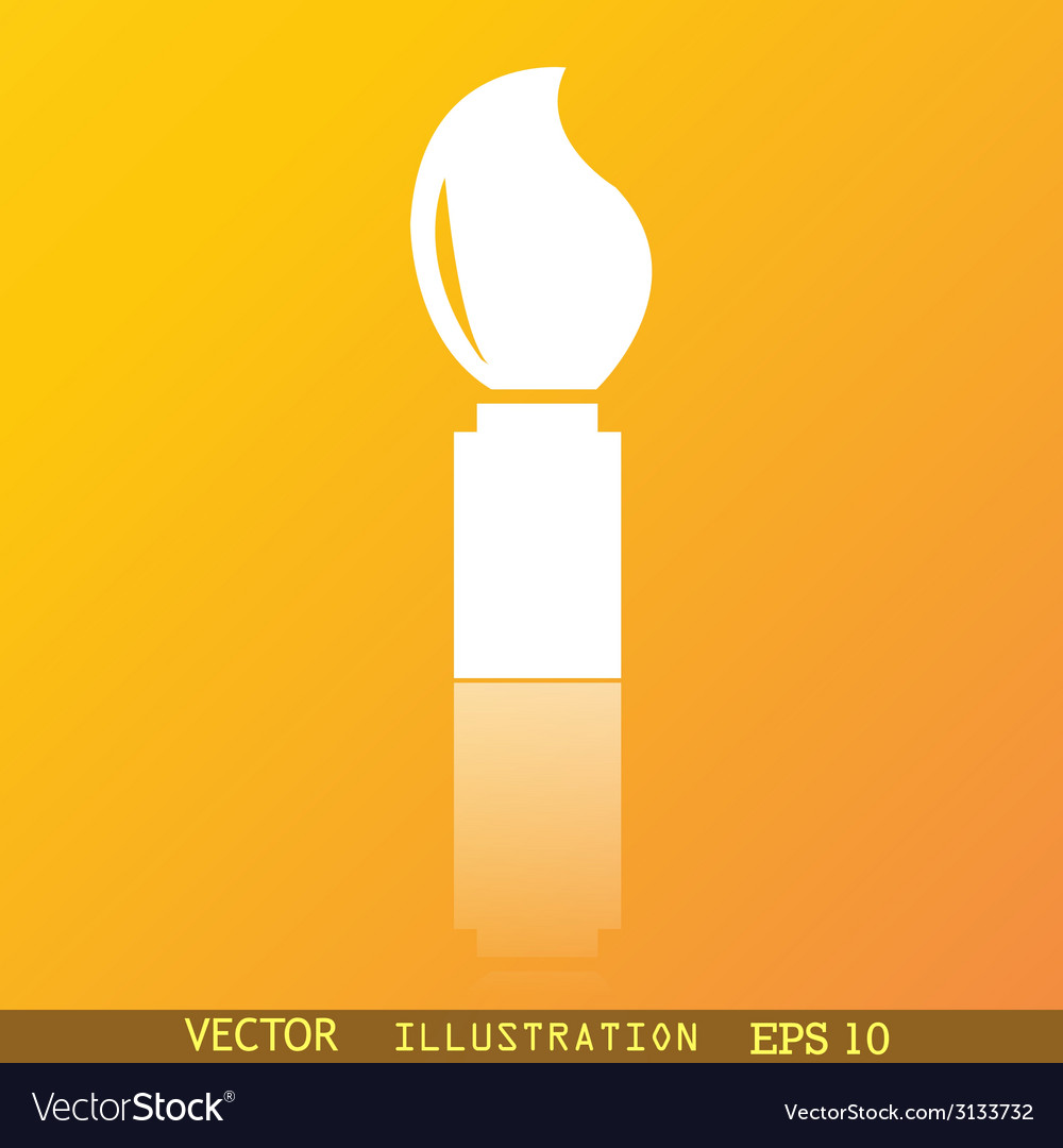 Paint brush icon symbol flat modern web design vector | Price: 1 Credit (USD $1)