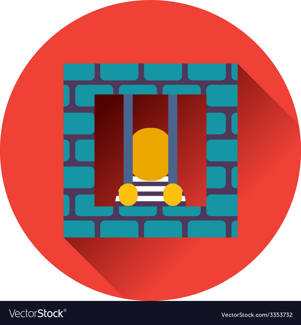 Prisoner icon vector | Price: 1 Credit (USD $1)