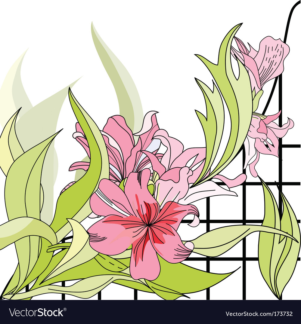 Romantic floral background vector   Price: 1 Credit (USD $1)