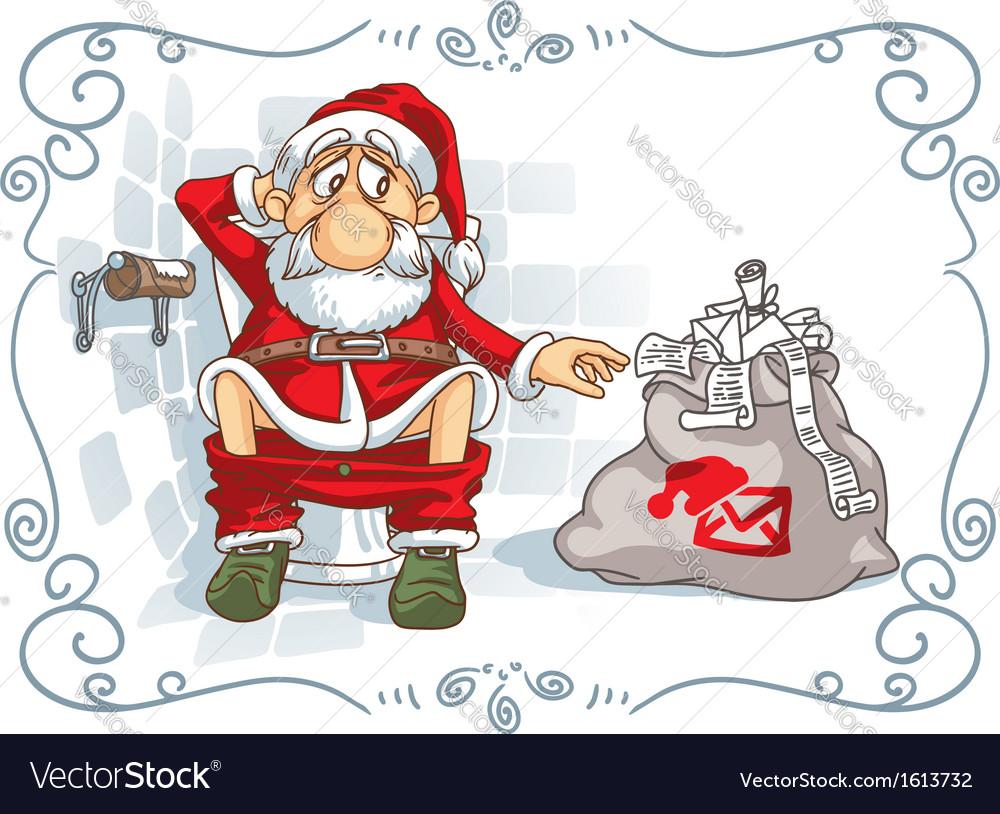Santa is in trouble vector | Price: 1 Credit (USD $1)