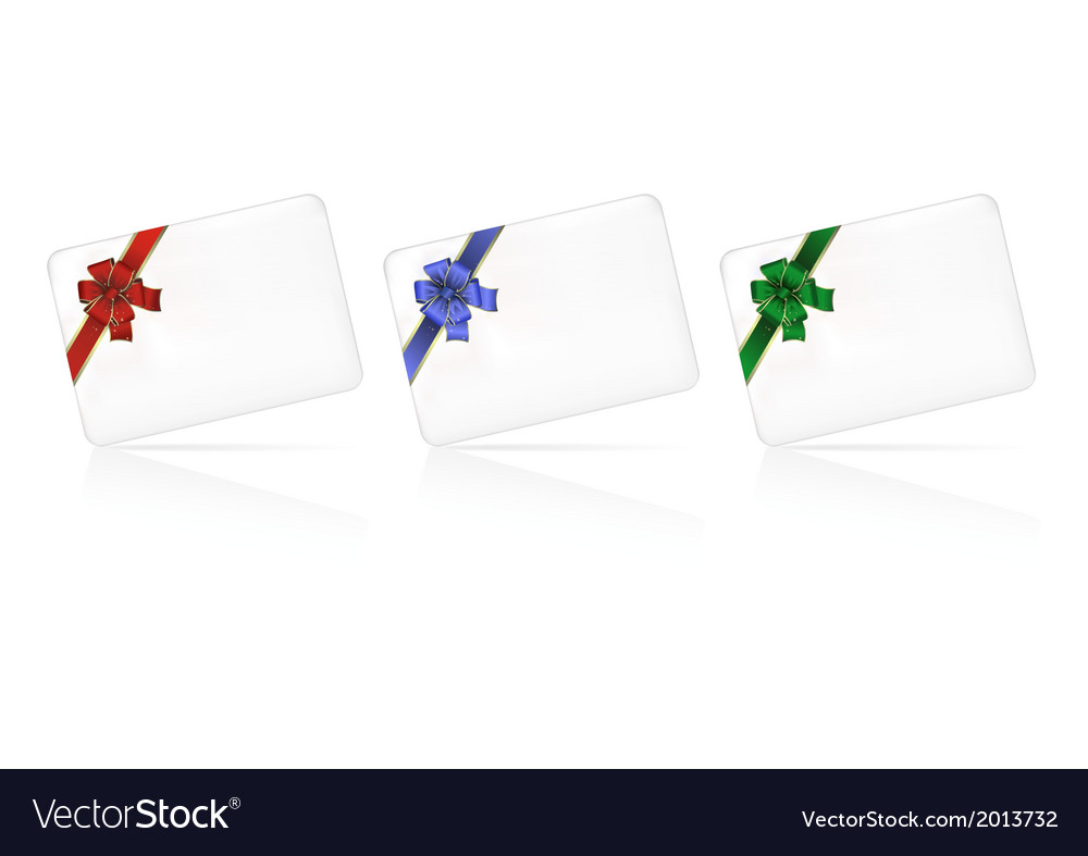 Set of cards with bows vector | Price: 1 Credit (USD $1)