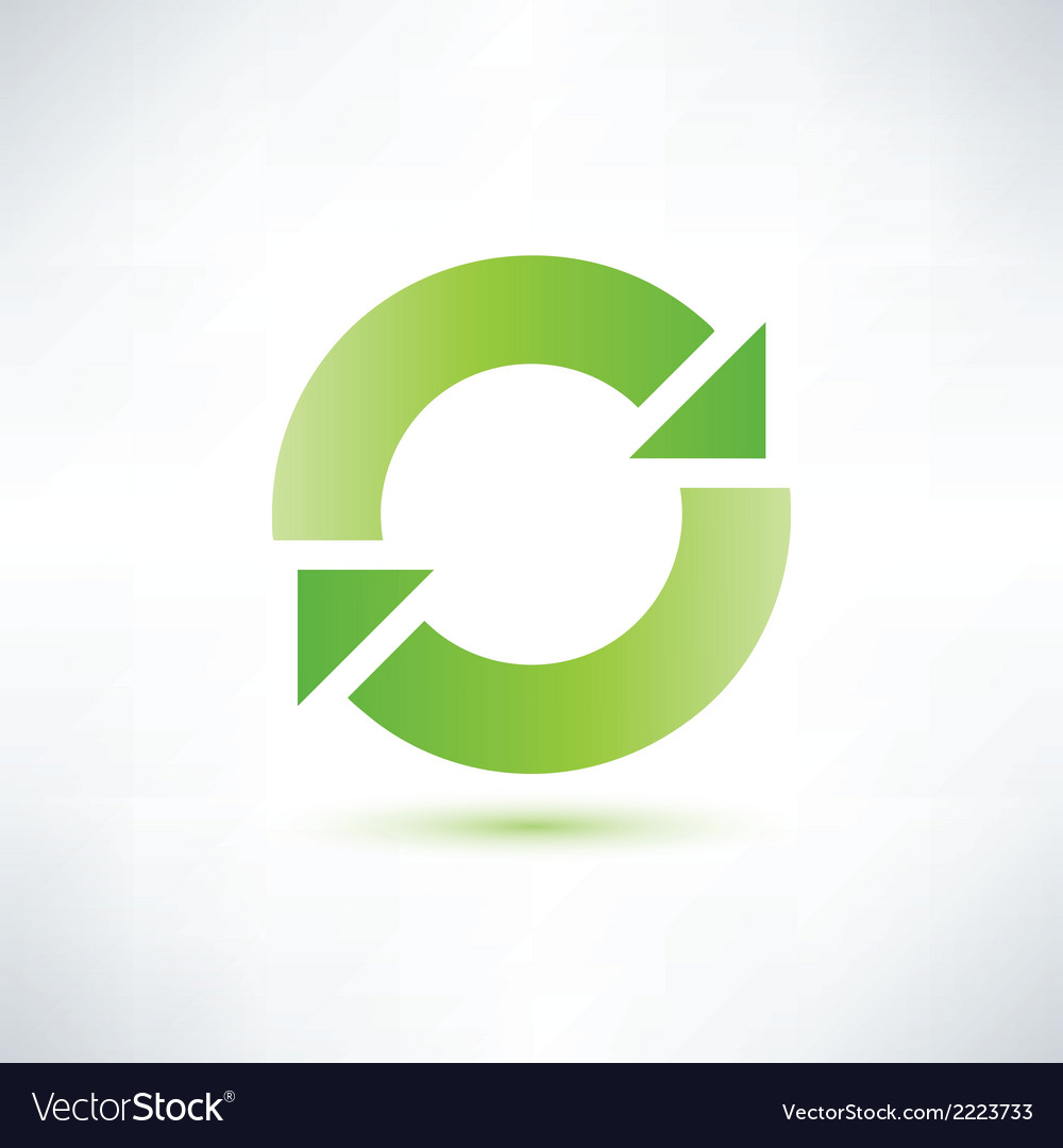 Abstract circle symbol recycle icon vector | Price: 1 Credit (USD $1)