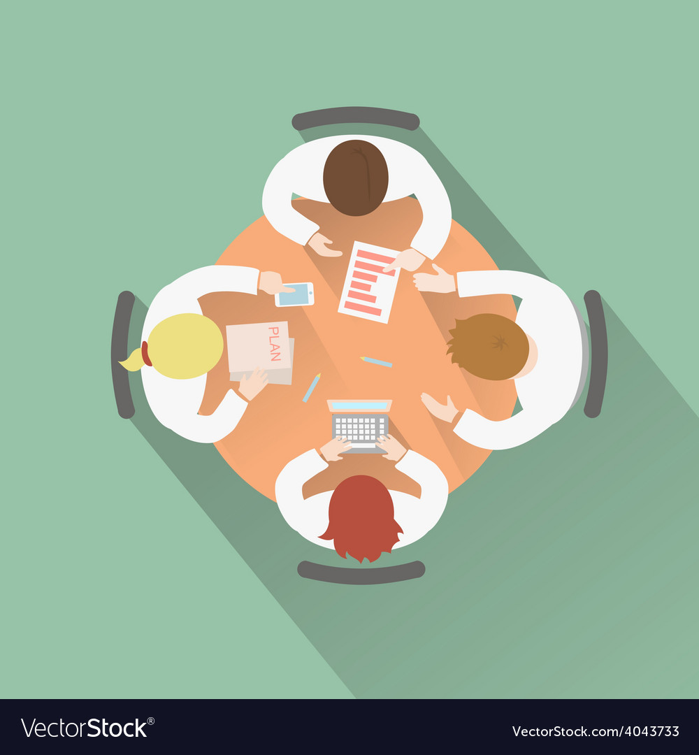 Business teamwork concept top view group people vector   Price: 1 Credit (USD $1)