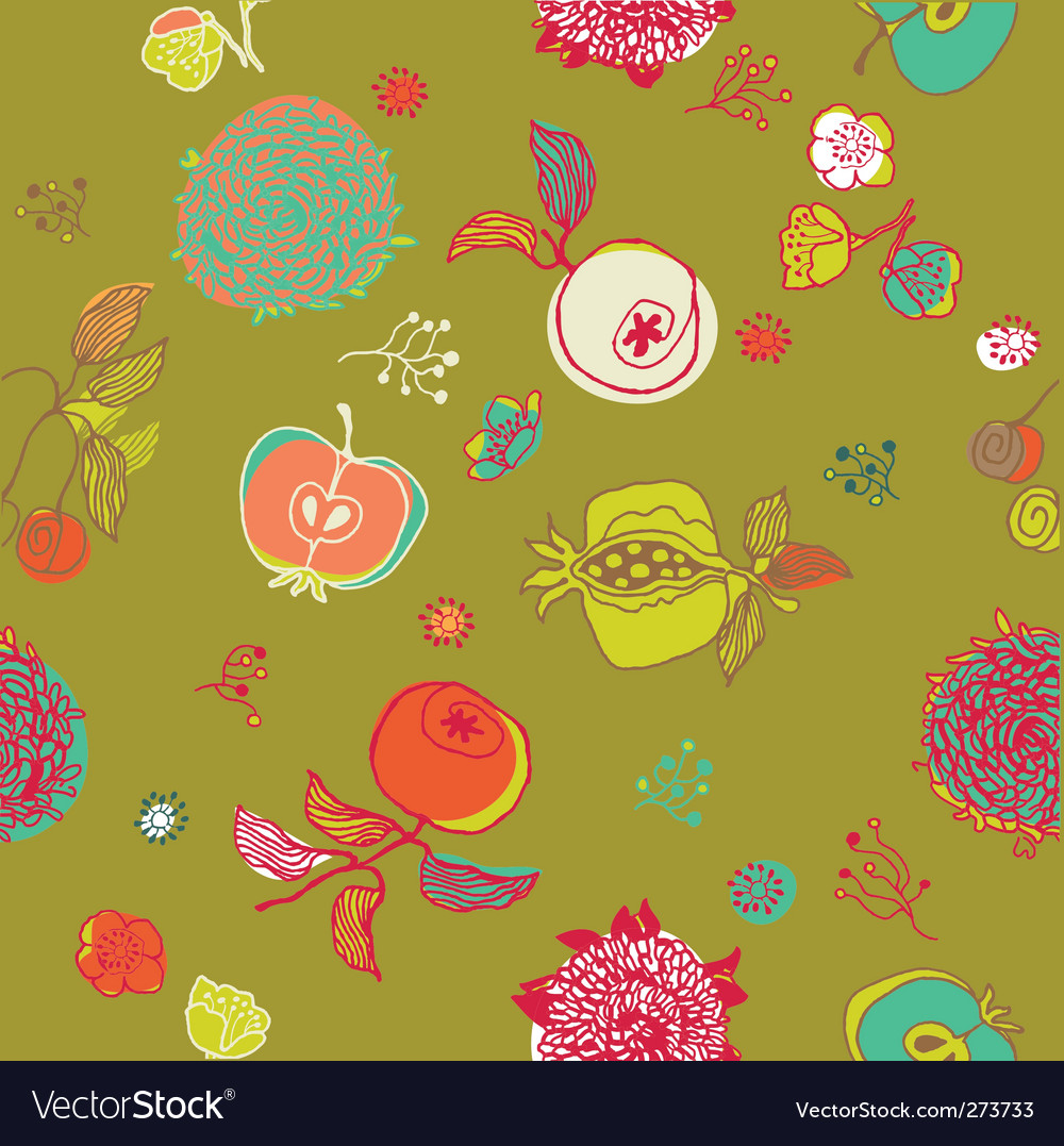 Floral garden pattern vector   Price: 1 Credit (USD $1)