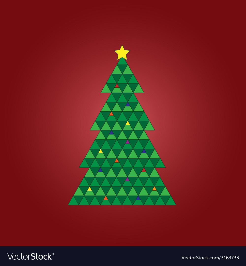 Geomestric xmas tree vector | Price: 1 Credit (USD $1)