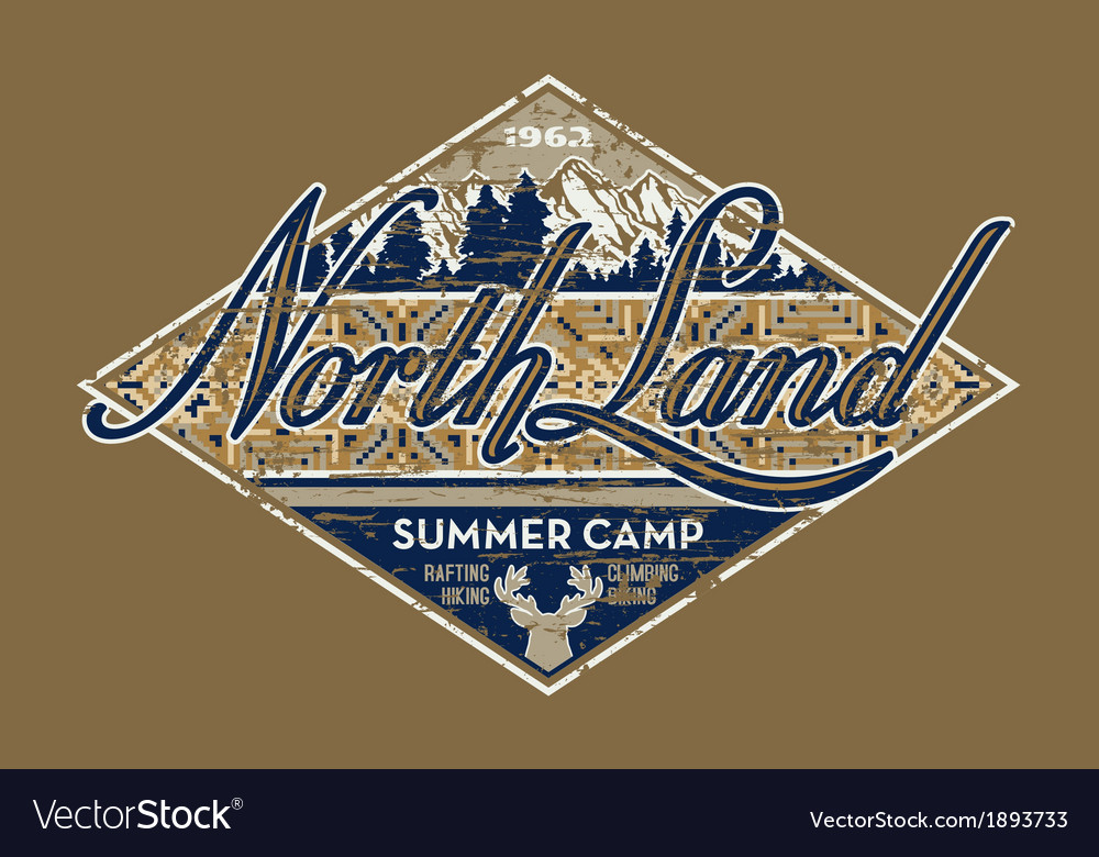 North land summer camp vector | Price: 1 Credit (USD $1)