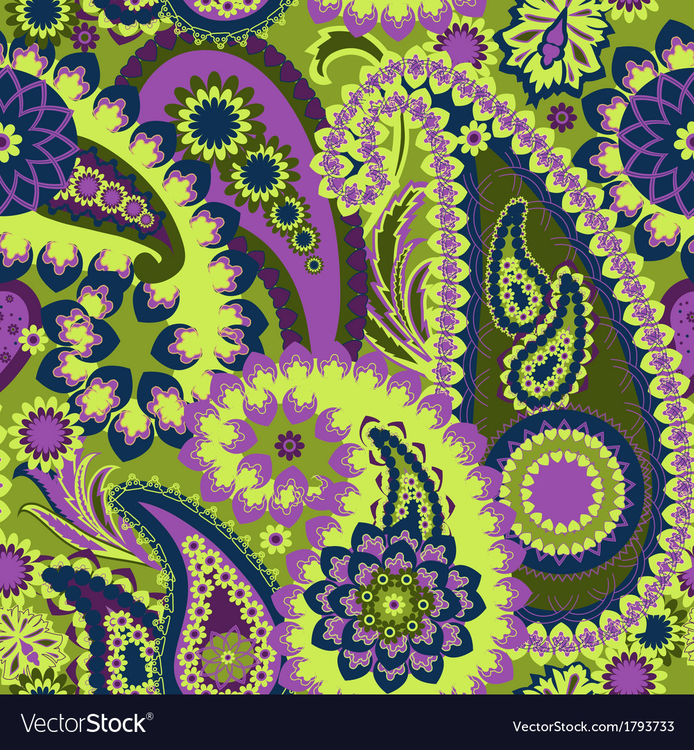 Paisley colorful background vector | Price: 1 Credit (USD $1)