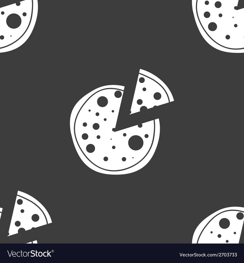 Pizza web icon flat design seamless gray pattern vector | Price: 1 Credit (USD $1)