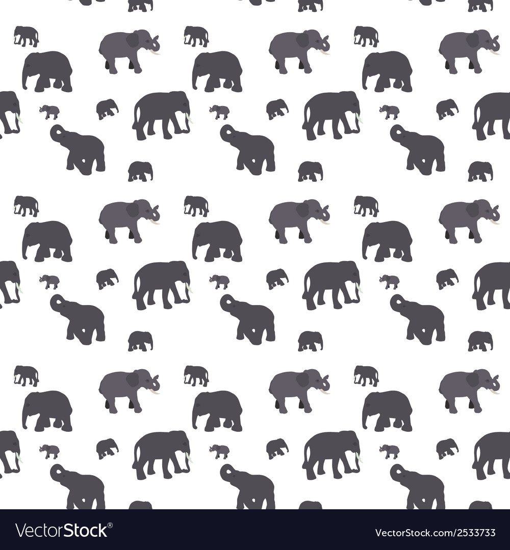 Seamless pattern of elephant vector | Price: 1 Credit (USD $1)