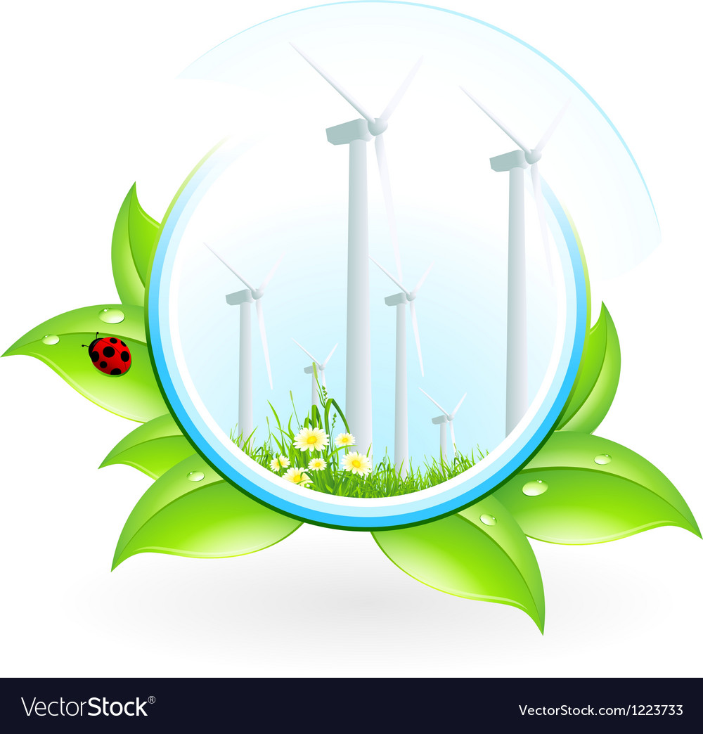 Wind power plant icon vector | Price: 1 Credit (USD $1)