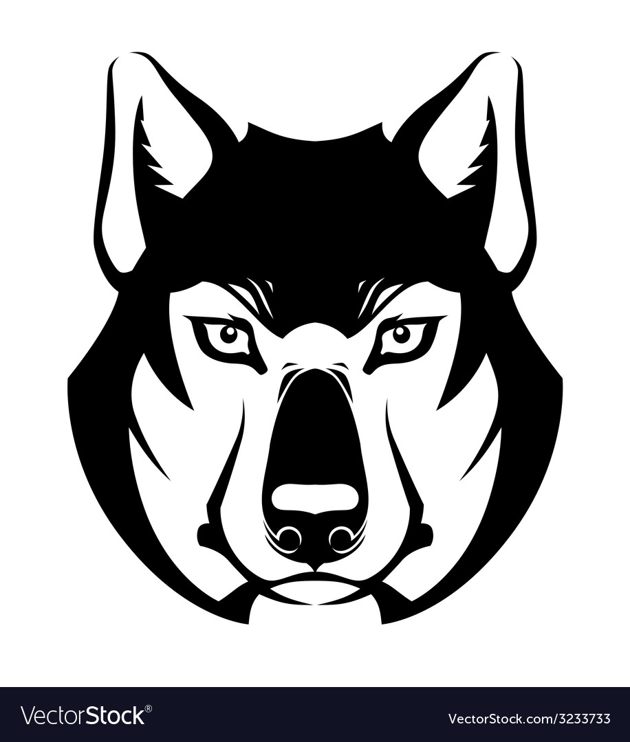Wolf face symbol vector | Price: 1 Credit (USD $1)