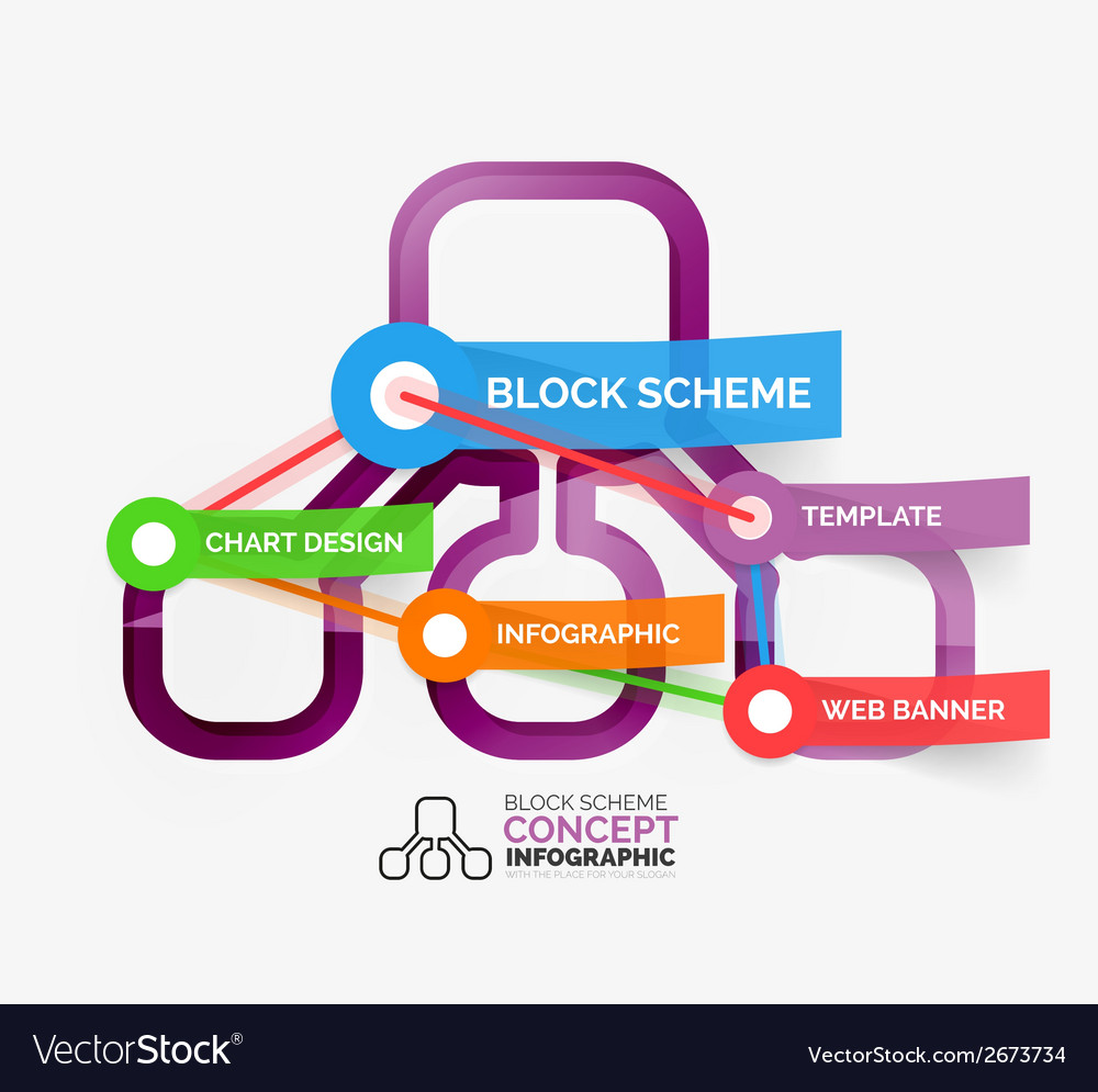 Block scheme infographic tag cloud vector | Price: 1 Credit (USD $1)