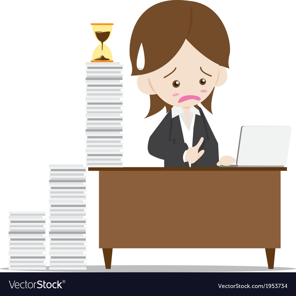 Business woman in busy time vector | Price: 1 Credit (USD $1)