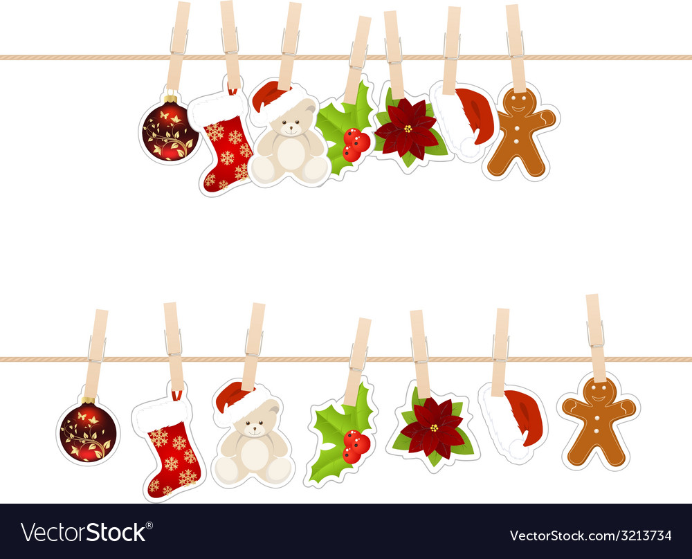 Christmas clothespins vector | Price: 1 Credit (USD $1)