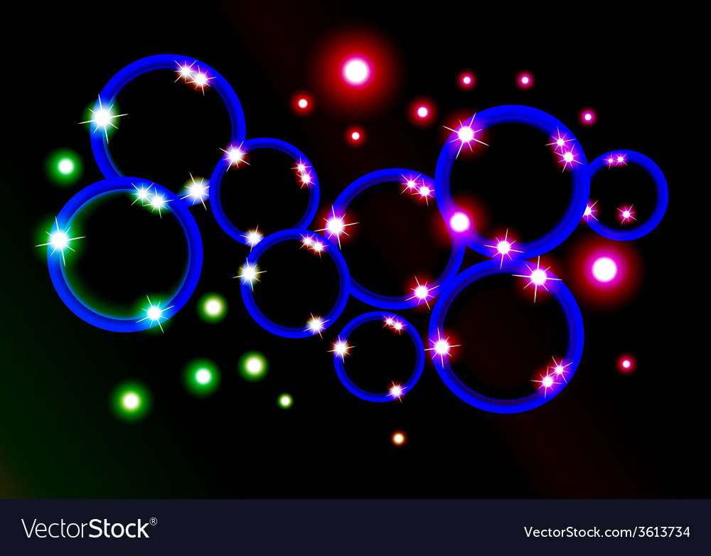 Circle with light and star vector | Price: 1 Credit (USD $1)