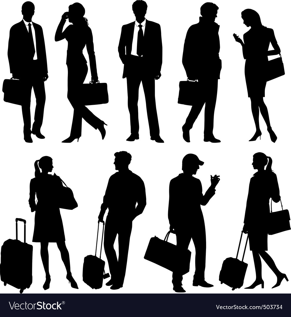 Global team silhouettes vector   Price: 1 Credit (USD $1)