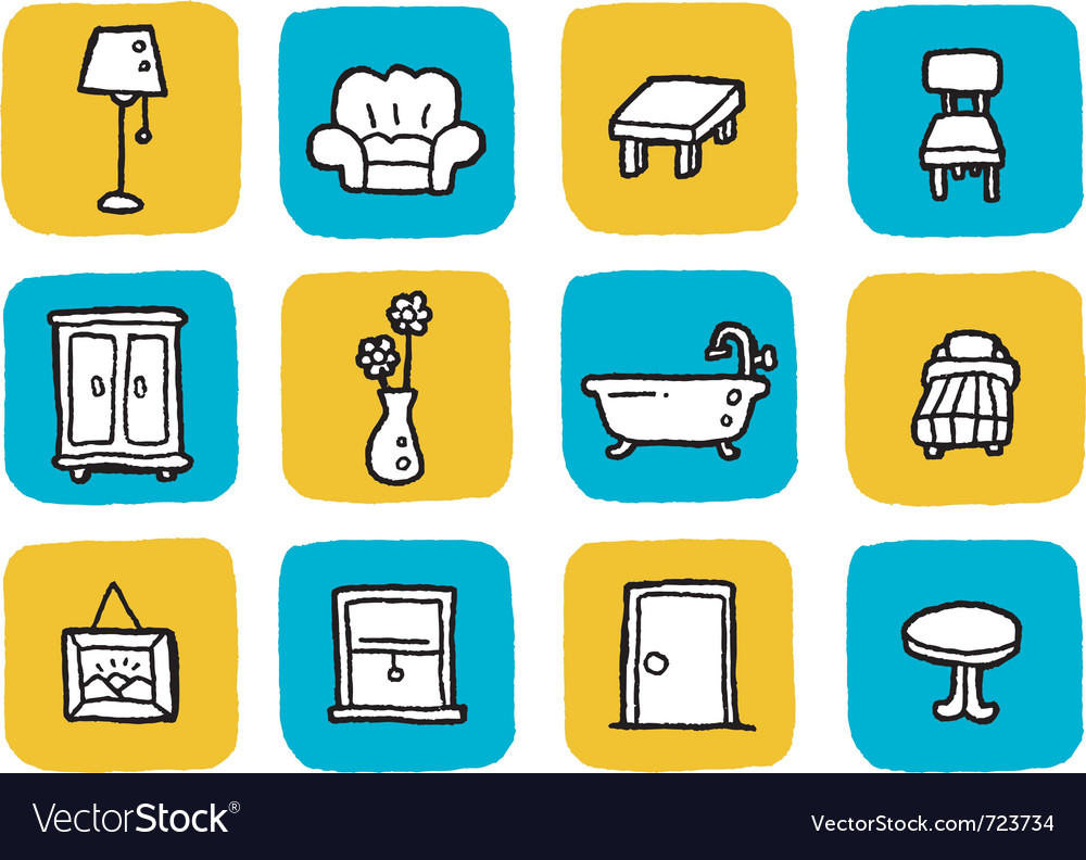 Icon furniture vector | Price: 1 Credit (USD $1)