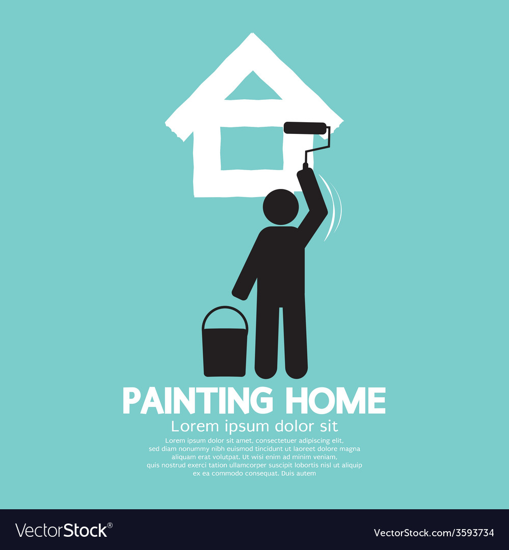 Painting home concept vector | Price: 1 Credit (USD $1)