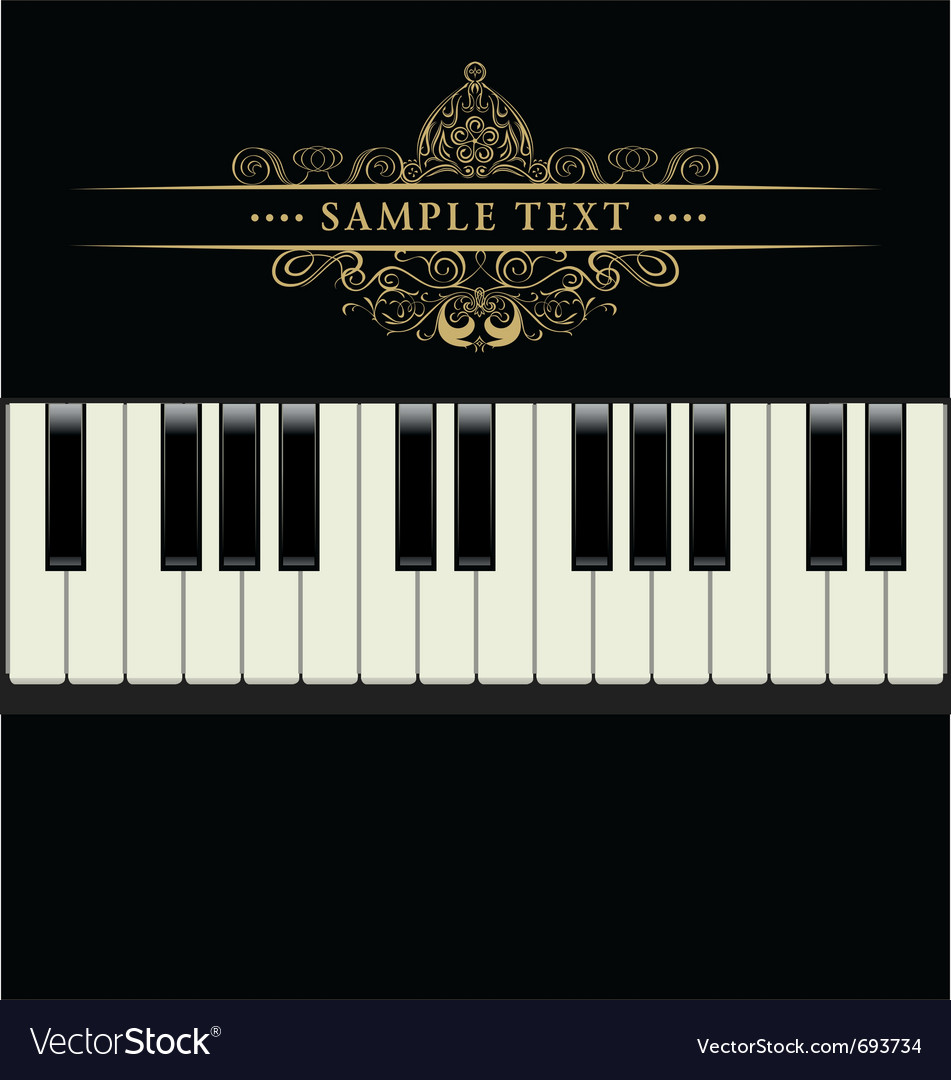 Piano keyboard vector | Price: 1 Credit (USD $1)