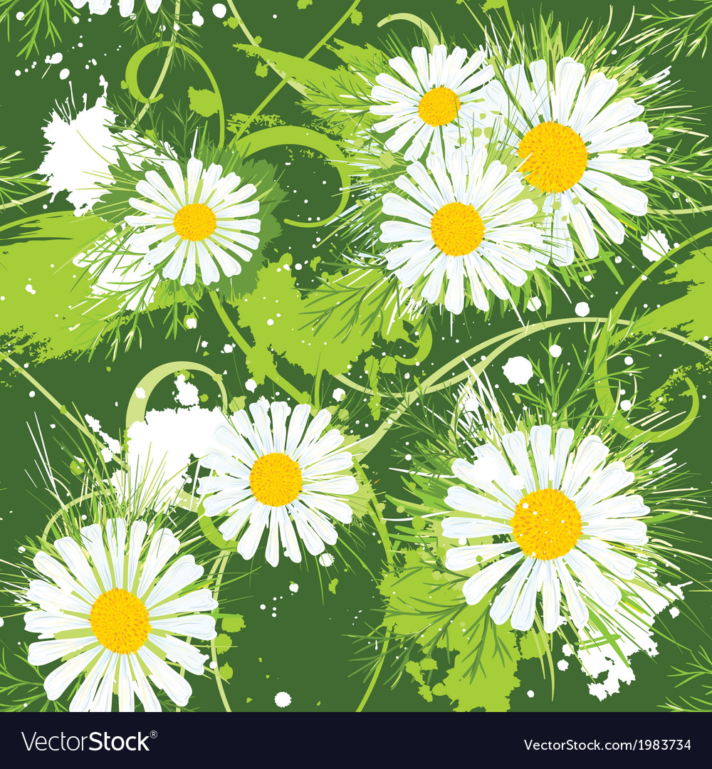 Summer floral seamless pattern vector | Price: 1 Credit (USD $1)