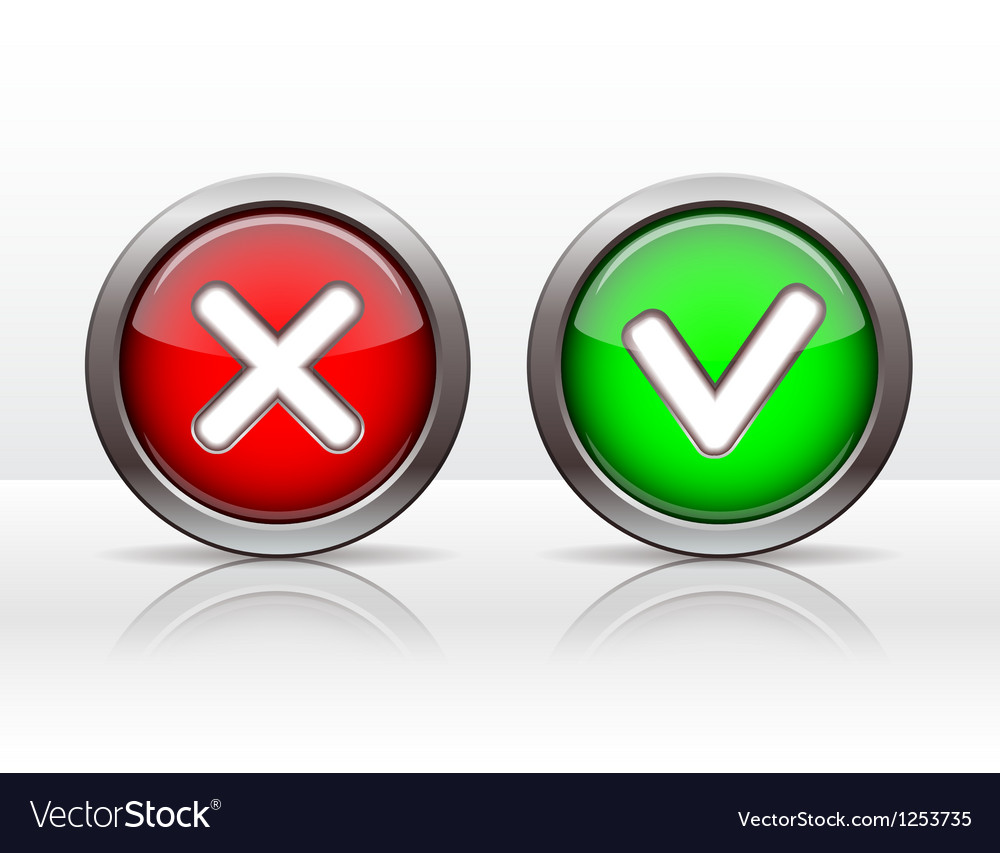 Check mark buttons vector | Price: 3 Credit (USD $3)