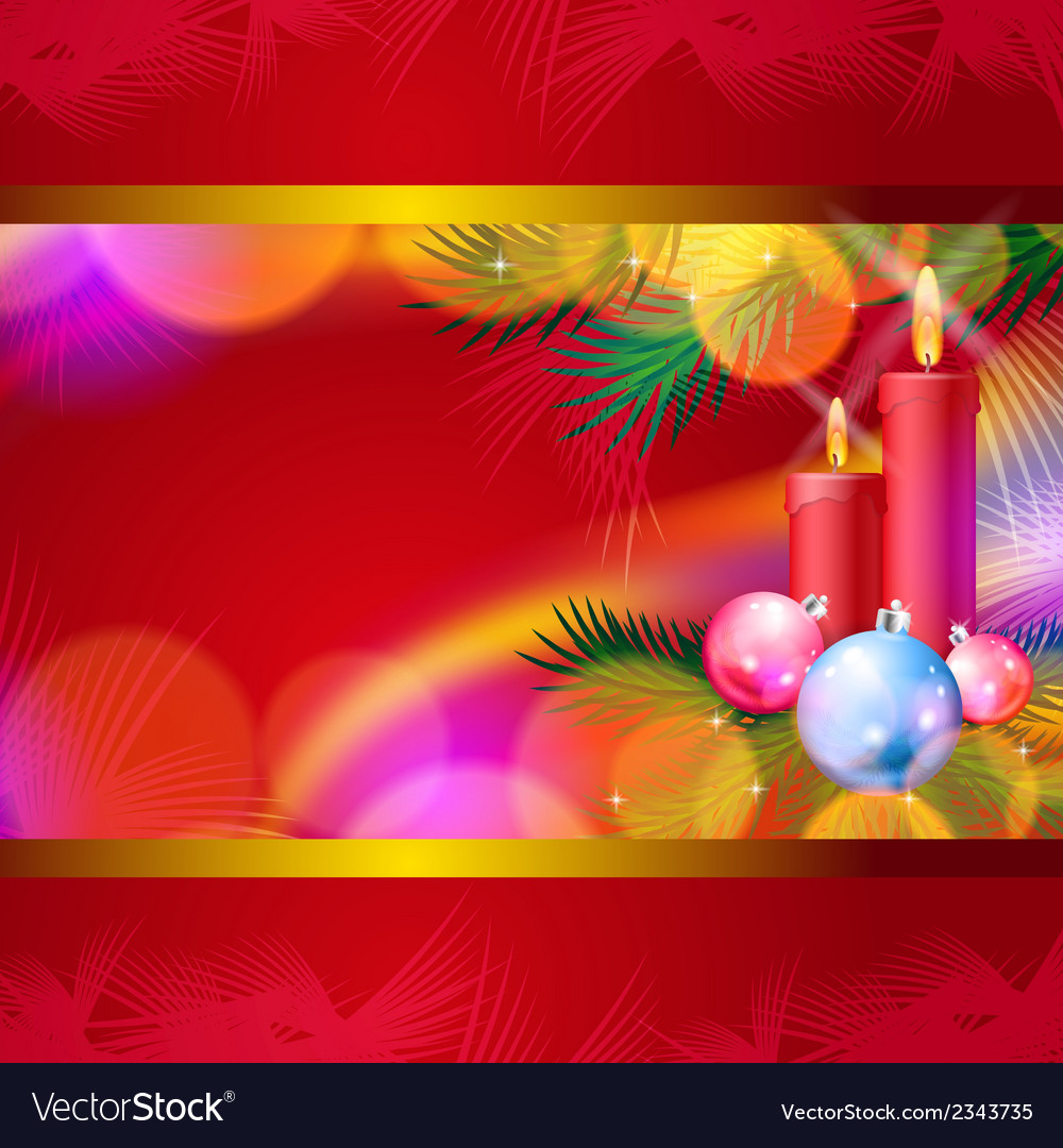 Christmas background with candles vector | Price: 1 Credit (USD $1)