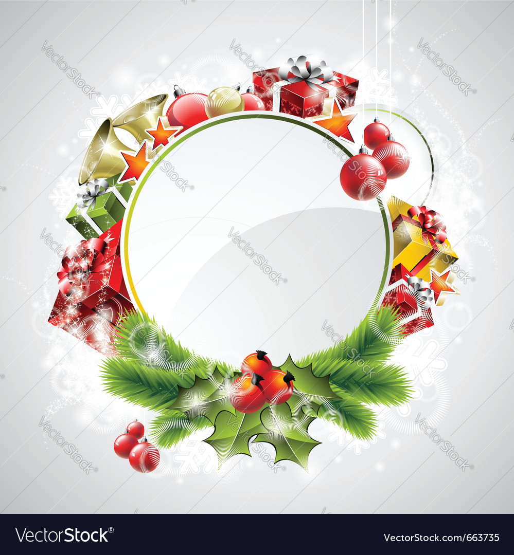 Christmas with gift boxes vector | Price: 3 Credit (USD $3)