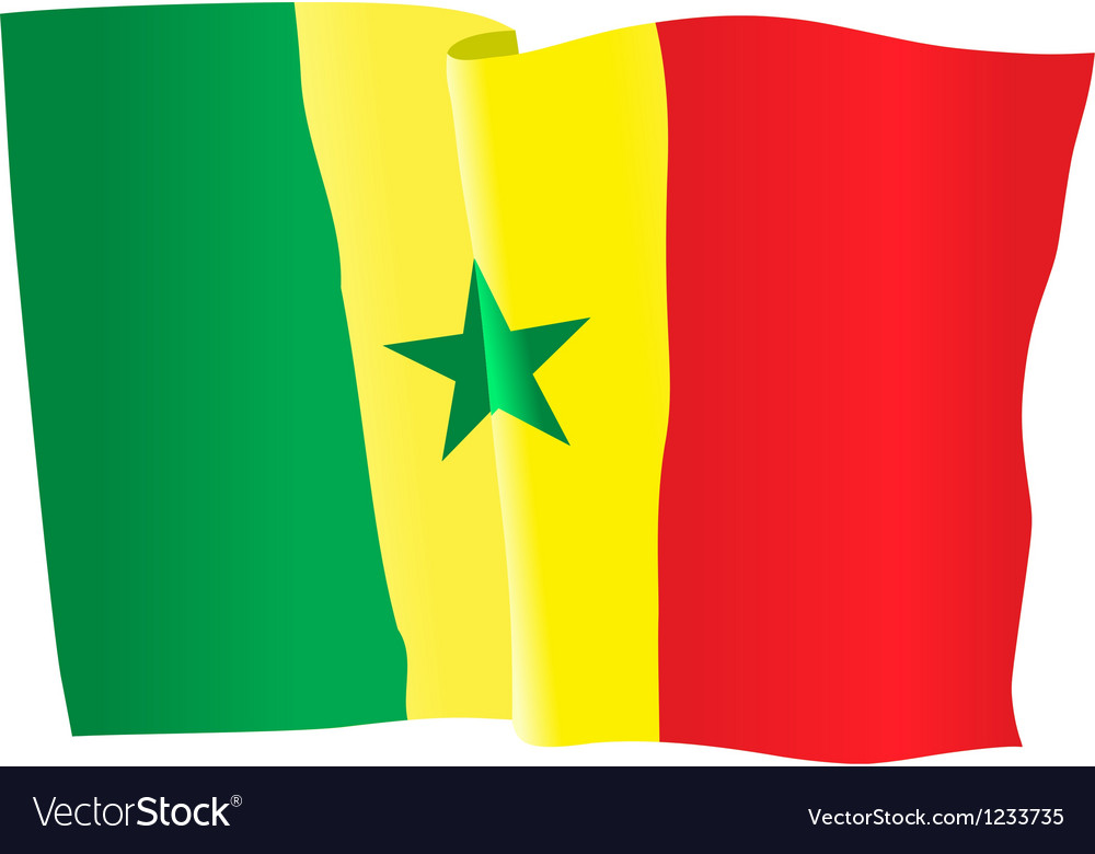 Flag of senegal vector | Price: 1 Credit (USD $1)