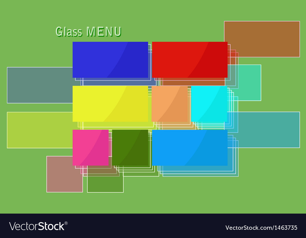 Glass menu vector | Price: 1 Credit (USD $1)