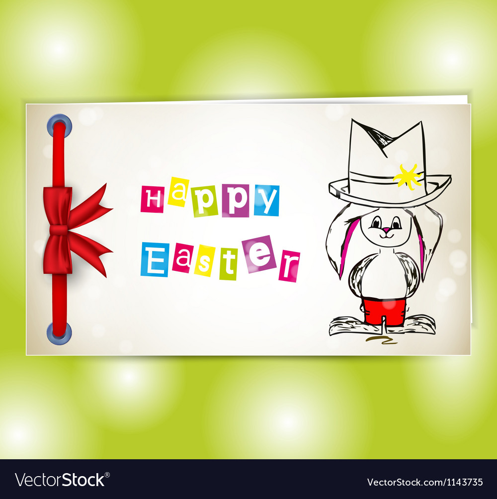 Happy easter bunny vector | Price: 1 Credit (USD $1)