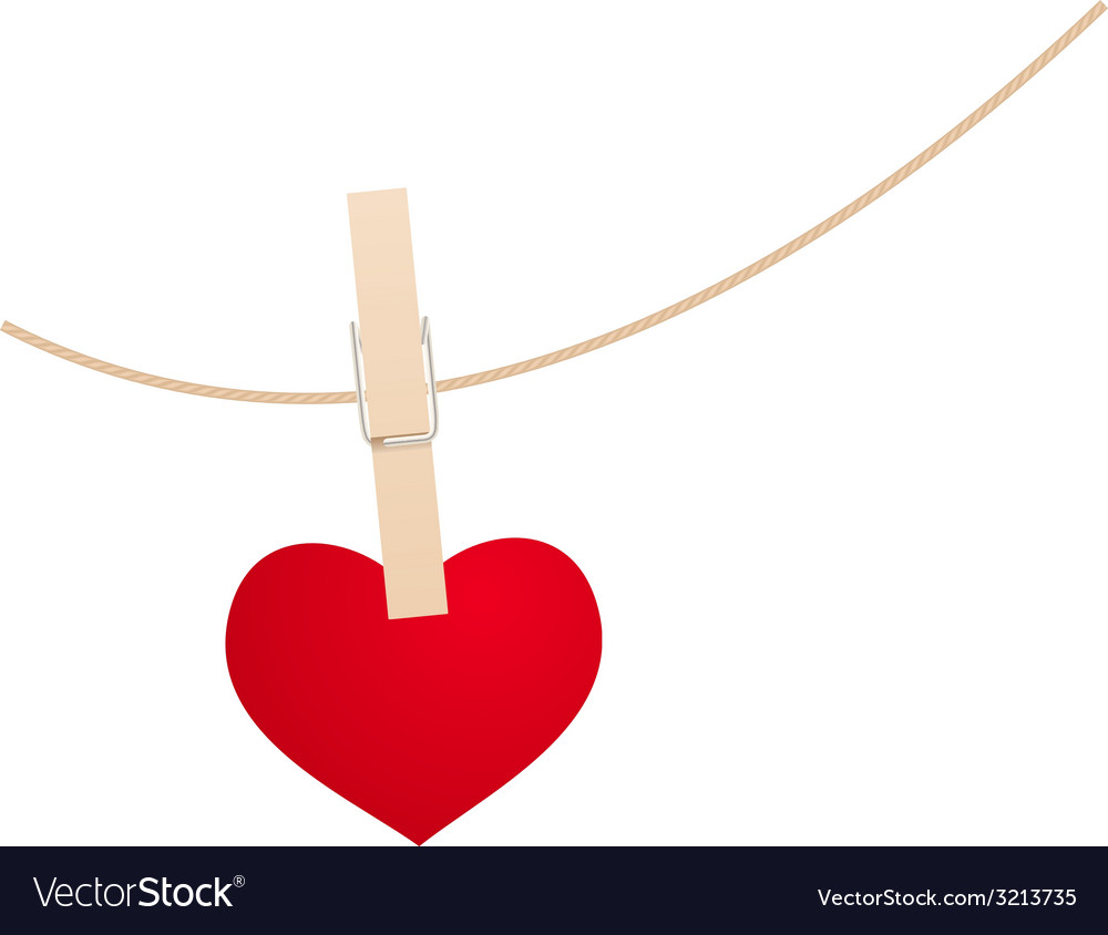 Heart clothespin vector | Price: 1 Credit (USD $1)