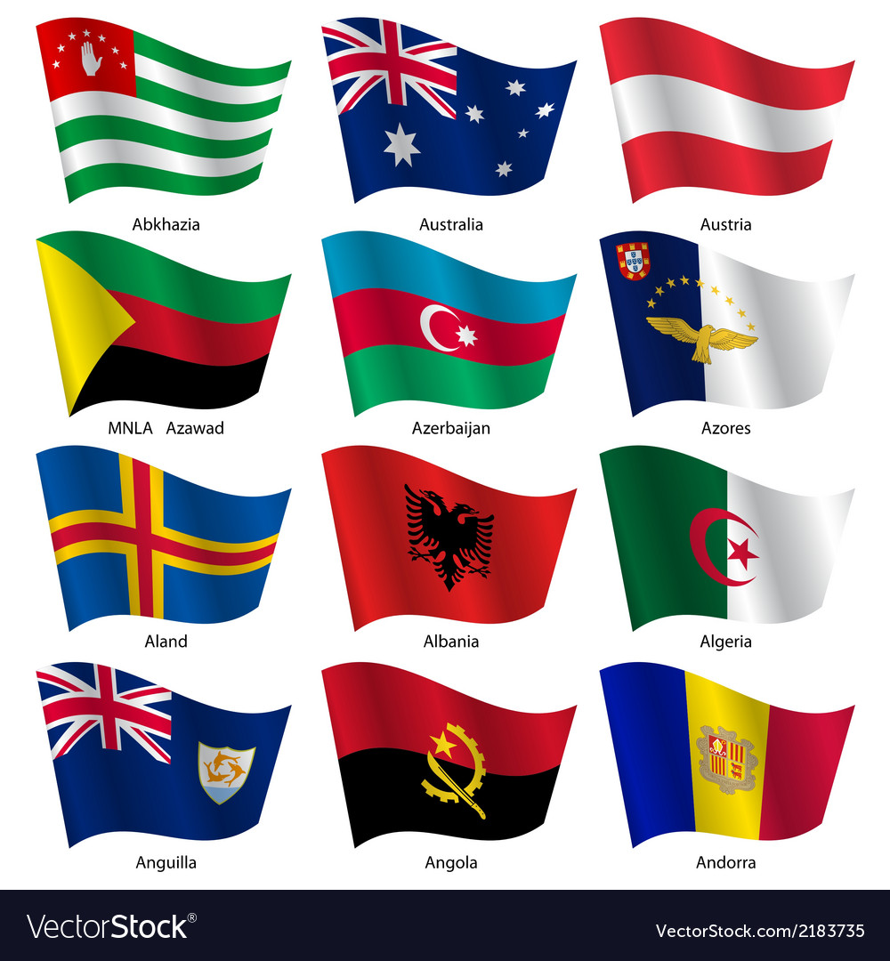 Set flags of world sovereign states vector | Price: 1 Credit (USD $1)