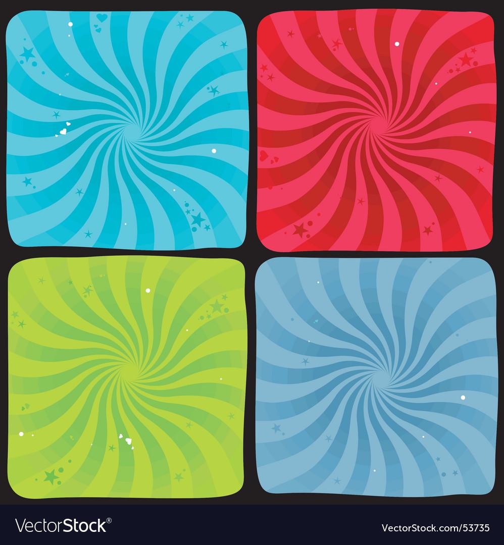 Spiral background set vector