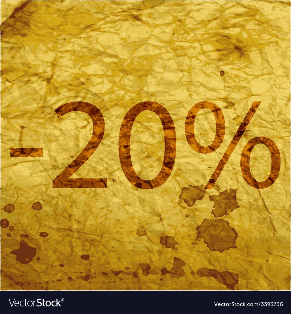 20 percent discount icon symbol flat modern web vector | Price: 1 Credit (USD $1)